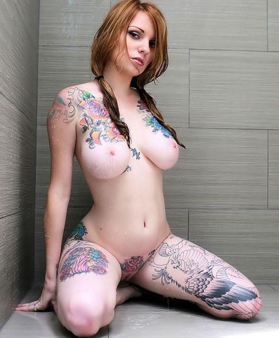 niked girls with tattoos